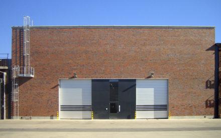Industriehalle Krefeld Eingang