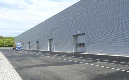 Logistikzentrum Krefeld Fassade